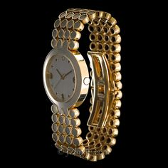 Harry Winston Ladies watch in 18K Yellow and 18K Gray Gold. Full Gold Bracelet