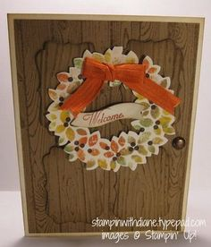 Wondrous Wreath Variations.Come like my Facebook page www.facebook.com/pages/Stampin-with-Diane/249204018555071