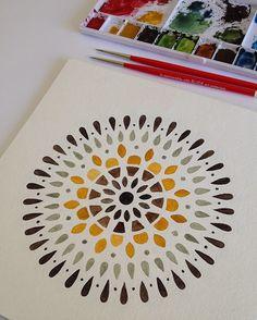 Yellow mandala by Claudia Calderas