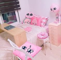 アピーチの画像 プリ画像 Dream Rooms, Dream Bedroom, Girls Bedroom, Bedroom Decor, Bedrooms, Apeach Kakao, Kawaii Bedroom, Aesthetic Rooms, Pink Room