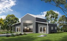 Ranbuild has a wide selection of American and Australian Barns, general purpose and machinery barns. Rural barns for sale. Modern Barn House, Barn House Plans, Shed Homes, Prefab Homes, Metal Building Homes, Building A House, Australian Sheds, Kit Homes Australia, Livable Sheds