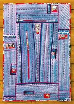 Reconstruction no.1 - Denim Art Quilt | by BooDilly's