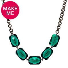 Emerald Edge Necklace | Fusion Beads Inspiration Gallery