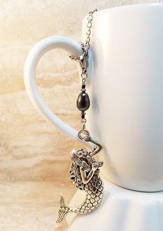 Silver Mermaid Tea Infuser Charm-Antique Silver by CamilleLaLune