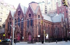 Calvary Episcopal Church, 273 Park Avenue South on the corner of East 21st Street in New York City.
