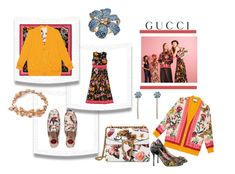 """""""Presenting the Gucci Garden Exclusive Collection: Contest Entry"""" by margaretkellogg ❤ liked on Polyvore featuring Gucci"""