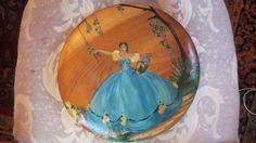 Vintage Art DECO 1930's Handpainted SOUTHERN Belle Crinoline Dress Painting on Wood.  via Etsy.