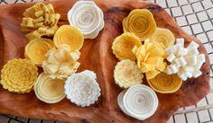 Yellow Felt Flowers-Felt Flower by TheBeautifulDoor on Etsy