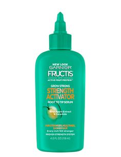 Grow Strong Strength Activator by Garnier Fructis. This daily hair serum renews hair's natural strength and overall quality for healthier and stronger hair. Crazy Curly Hair, Oily Hair Shampoo, Sunburn Relief, Herbal Essences, Makeover Tips, Hair Laid, Hair Serum, Strong Hair, Smooth Hair