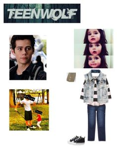 """Teen Wolf: Stiles teaching Talia how to play lacrosse"" by nerdbucket ❤ liked on Polyvore featuring H&M, 77kids, Converse and Mother Daughter Jewelry"