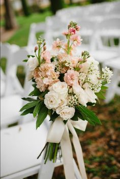 aisle option 2 all white flowers slightly more upright hand-tied $50