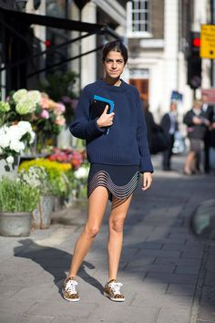 Leandra Medine. London Fashion Week Street Style Spring 2015 - London Street Style - Harper's BAZAAR