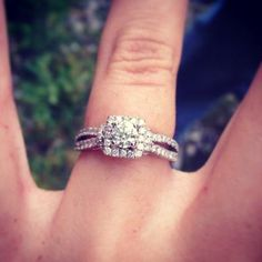 """""""It sparkles at every angle, and the halo around the center diamond makes it pop."""