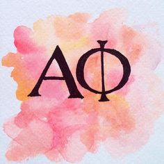 Alpha Phi Letters Watercolor Painting by PaintingsbyPearl on Etsy, $15.00