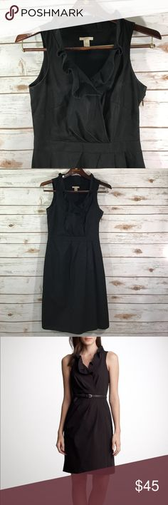 J. Crew Black Cotton Blakley Dress This is a black cotton dress by J.  Crew. The dress is in a size 0 and has a ruffle collared neckline. Thanks! J. Crew Factory Dresses