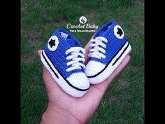All Star Long Crochet Pants - Size 9 cm - Crochet Baby Yara Birth - Y . Crochet Pants, Crochet Baby Cardigan, Crochet Baby Boots, Crochet For Boys, Crochet Shoes, Crochet Slippers, Knitted Baby, Boy Crochet, Crochet Converse