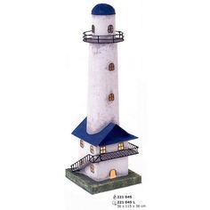 Faro marítimo en miniatura de hojalata