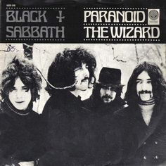 Black Sabbath, Paranoid / The Wizard single cover art