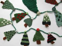 Christmas Tree ... by Made By Ewe | Knitting Pattern - Looking for your next project? You're going to love Christmas Tree Advent Garland by designer Made By Ewe. - via @Craftsy