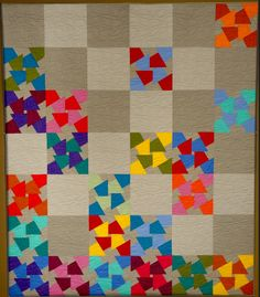 """""""Color Knots"""" quilt by Gyleen Fitzgerald"""