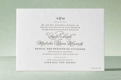LOVE THIS! Charming Go Lightly Letterpress Wedding Invitations by Cheree Berry Paper at minted.com