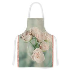 KESS InHouse Cristina Mitchell 'Pink Romance' Teal Blush Artistic Apron, 31 by 35.75', Multicolor * Wow! I love this. Check it out now! : Bakeware