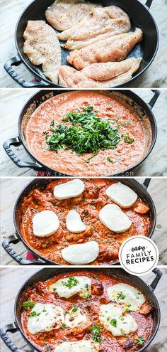 Mozzarella chicken is an EASY weeknight meal that tastes like it was made at a restaurant! Fast Dinner Recipes, Fast Dinners, Easy Weeknight Dinners, Easy Meals, Fast Easy Dinner, Fast Recipes, One Skillet Meals, One Pot Meals, Mozzarella Chicken