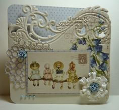Card by our Designer Anja van Laar with Creatables Anja's Border Elegant and Confetti by Marianne Design. LOVE this border die! WANT this border die! Beautiful Handmade Cards, Unique Cards, Kids Cards, Baby Cards, Marianne Design Cards, Tattered Lace Cards, Handmade Card Making, Scrapbooking, Fancy Fold Cards