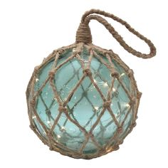 Made of stylish bubble glass, this SONOMA Goods for Life light-up buoy can be used as tabletop or wall decor. Coastal Christmas Decor, Beach Christmas, Coastal Decor, Coastal Living, Beach Theme Bathroom, Nautical Bathrooms, Glass Floats, Beach Cottage Decor, Sonoma Goods For Life