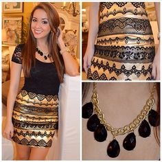 Adorable! Black & Gold absolutely love this outfit!