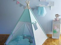 Teepee and mat - mint stars