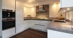 Kitchen Interior, Kitchen Cabinets, Modern, Kitchen Inspiration, Home Decor, Image, Home Plans, Kitchens, Kitchen Cupboards