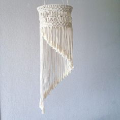 Macrame Spiral Mobile for your boho decoration. Made of cotton rope. Measurements : 20 cm/ 7,87 inches diameter X 60 cm/ 23,62 inches lenght