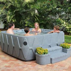 AquaRest Spas Elite 500 5-Person Lounger Plug and Play Hot Tub with 29 Stainless Jets, Ozone and LED Waterfall in Graystone