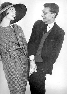 Fashion designer Yves Saint Laurent and model Suzy Parker, photographed by Richard Avedon for Harper's Bazaar, March 1959.