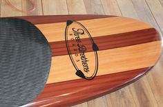 """This is a Three Brothers Boards, wood veneer, 10'6"""" Jason Ryan Model Stand Up Paddle Board"""