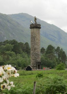 Glenfinnan monument, marking the spot where Charles Stuart landed in 1745.  (from Outlandish Observations: Karen Henry's trip to Scotland, Part 2)