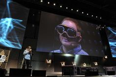 2012 Raphael Pirker from Switzerland, founder of Team BlackSheep used virtual reality goggles to simulate the sensation of flight in the real world during a demonstration, flying from the perspective of a model aircraft, during a session of LeWeb'12 in Saint-Denis, near Paris.