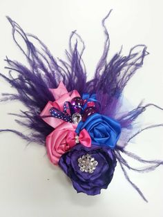 Rosette Cluster Hair Bow by cadizboutique on Etsy