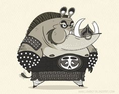 pig warrior ★ Find more at http://www.pinterest.com/competing/