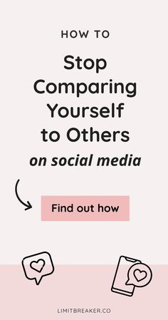 Find yourself constantly comparing yourself to others on social media? This article will show you some steps you can take to overcome social media comparison for good.  #selfcare #socialmedia #comparison #selfconfidence #mindfulness #personaldevelopment #selfdiscovery #selflove #selfworth #confidence Online Marketing, Social Media Marketing, Digital Marketing, Business Motivation, Business Tips, Self Development, Personal Development, Self Confidence Tips, Healthy Mind And Body
