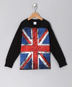 Take a look at this Black Vintage British Flag Tee - Infant, Toddler & Kids by Micro Me on #zulily today!