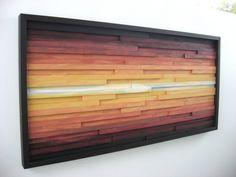 Abstracto paisaje pintura sobre madera arte de por ModernRusticArt