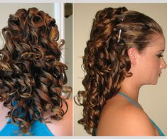 Conversion If you have very thick and long hair and want a little less volume, this layered hairstyle is perfect for you. Curl the ends and tie them up in a pony and clip them up and you have a classic hairstyle for a party or fun time with friends and family.