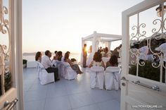 VIOLETTA AND KOSTA'S WEDDING IN SANTORINI AND LIVE STREAMING