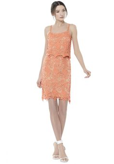 71f859fc2d3 FARREL PENCIL SKIRT in CORAL NUDE by Alice + Olivia Pastel Fashion