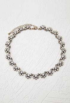 Clustered Rhinestone Statement Necklace | Forever 21 - 1000173166