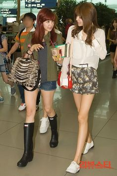 Tiffany and Sooyoung ; cool airport fashions