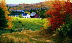 Golden Countryside Mural