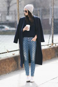 Polka dot jeans. Pic: We Wore What